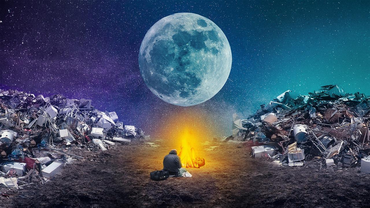 landfill moon fire